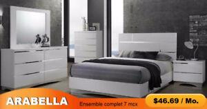 7 Pieces Complete Bedroom Set Prillo - ARABELLA