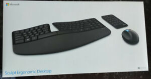 BNIB Microsoft Sculpt Ergonomic Desktop(keyboard, mouse, numpad)