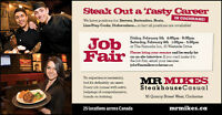 MR MIKES SteakhouseCasual is Hiring!