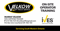 ON-SITE FORKLIFT OPERATOR CERTIFICATION/TRAINING