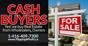We buy houses for cash, Fast closing