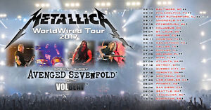 METALLICA TIX /ZONE 1/JULY 19/ BELOW COST/SAVE $69.00