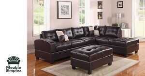 Sofa sectionnel cuir montreal refil sofa for Liquidation sofa sectionnel