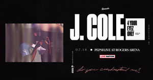 J. COLE 4 Your Eyez Only Tour Tues. Jul. 18th - ROW 2 UPPERS!!