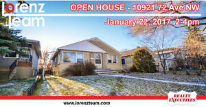 OPEN HOUSE! 10921 72 Avenue NW in Edmonton - January 22nd 2-4pm!
