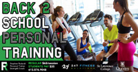Back 2 School Personal Training! (save 46% off regular price!)
