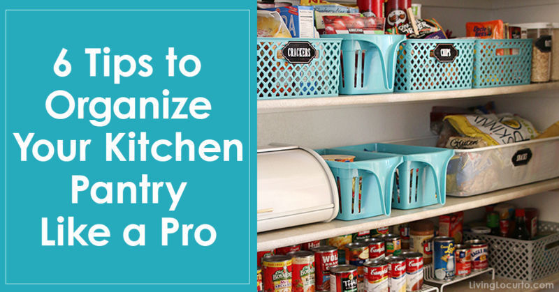 6 Tips To Organise Your Kitchen Pantry Like a Pro by Amy Locurto of Living Locurto