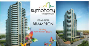 Symphony Condos launching tommorow in Downtown Brampton.