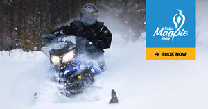 Guided Rental Snowmobile 700kms trip 4 days 3 nights