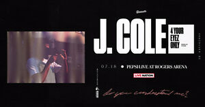 J. COLE 4 Your Eyez Only Tour Tues. Jul. 18th - ROW 1 SEATS!!