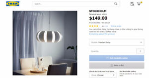 Compare my price with IKEAS  $149.00  with web link