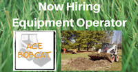 Now Hiring Experienced Equipment Operator