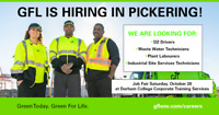 GFL Job Fair in Oshawa - October 20
