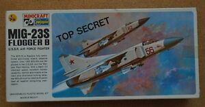 1/72 scale Hasegawa/Minicraft Mig-23S Flogger B model kit