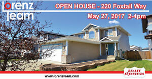 OPEN HOUSE! 220 Foxtail Way in Sherwood Park - May 27th 2-4pm