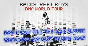 ✯✯BACKSTREET BOYS✯✯SCOTIABANK ARENA WED Jul 17