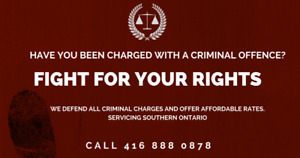 AFFORDABLE CRIMINAL LAWYERS - CALL 416 888 0878 - FREE CONSULTS