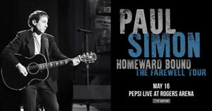 Paul Simon May 16 Concert - Floor Tickets Row 21 - $325
