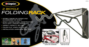 Folding wall mount bicycle rack