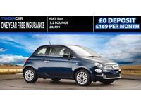 Fiat 500 1.2 2016 LOUNGE - FREE INSURANCE