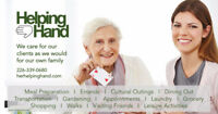 Companion services for your elderly family members