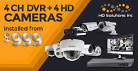 4 HD Security Camera Systems installed from $999