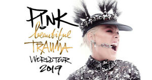 PINK Beautiful Trauma Tour Saturday Apr 6th - UPPERS GREAT SEATS