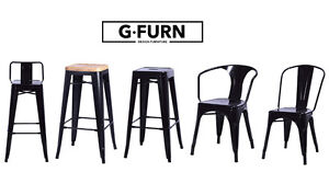 Tolix Style Industrial Bar Stool Barstool Restaurant Chair Metal