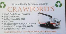 Scrap metal hiab lifting services site clearances