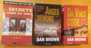 Lot de 3 livres Da vinci Code Anges Démons Les secret du Code