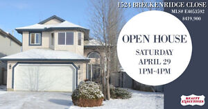 OPEN HOUSE Saturday April 29 1-4PM @ 1524 BRECKENRIDGE CLOSE