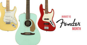 Join Long & McQuade for Fender Month in August!
