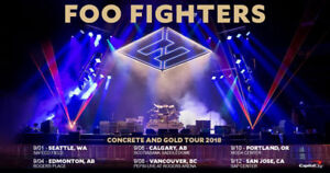Foo Fighters Live in Vancouver! Amazing seats available!