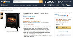 Dimplex Electric Wood STOVE HEATER SEE VIDEO Kitchener / Waterloo Kitchener Area image 6