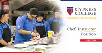 Chef Instructor for Cypress College Culinary Arts Program.