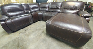 Faux Leather Theatre-Style Sectional