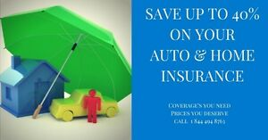 Save up to 40% on your insurance