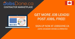 Contractors & Sub-Contractors Needed for Job Leads! JobsDone.ca