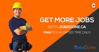 Contractors & Sub-Contractors Needed, Visit JobsDone.ca