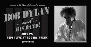 Selling 2 Floor Tickets for Bob Dylan $150/each