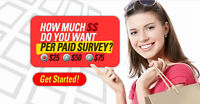 Get Paid up to $250.00 a day taking Free Surveys!
