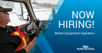 NOW HIRING - Winter Equipment Operators