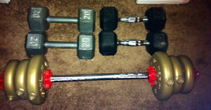 Selling my barbell weigh and curling weigh's