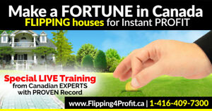 Learn how to make instant profit from flipping houses!