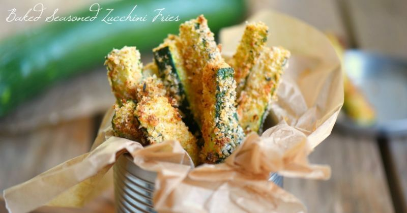 Your new favorite way to eat zucchini! These Baked Seasoned Zucchini Fries are loaded with flavor and baked to a golden