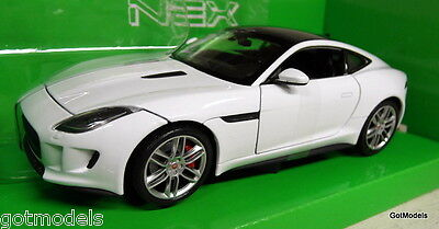 Nex 1/24 Scale 24060 Jaguar F-Type Coupe white Diecast model car