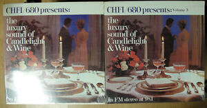 THE LUXURY OF CANDLELIGHT & WINE  - 2 NEW VINYL LPS - CHFI