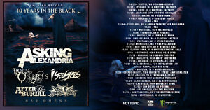 Asking Alexandria 10 Years in the Black Tour VIP Balcony19+ Show