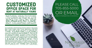 Office Space for Rent located at Naturally Yours