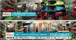 Kayaks de pêche, kayaks récréatifs, planche à pagaie, SUP, Surf,